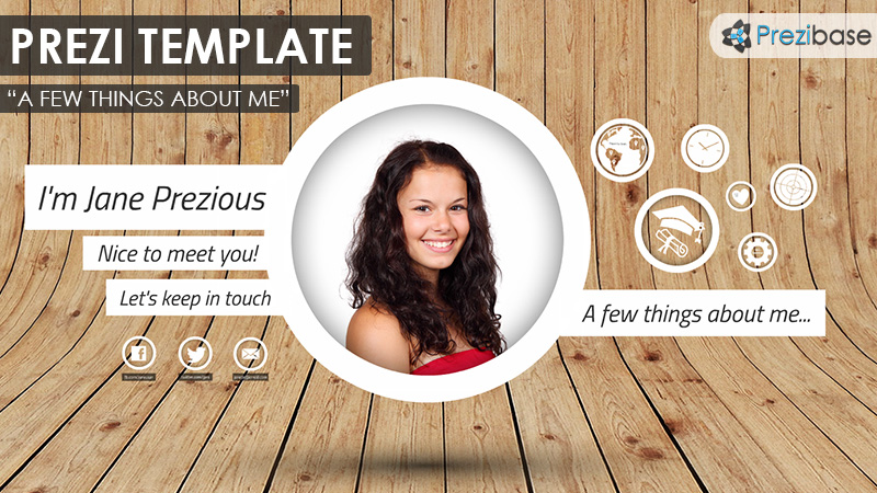 a few things about me prezi template