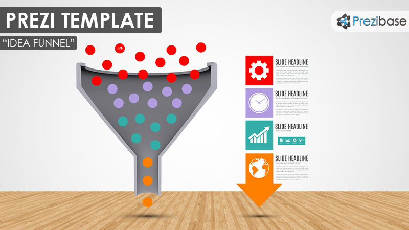 3d idea funnel marketing business prezi template