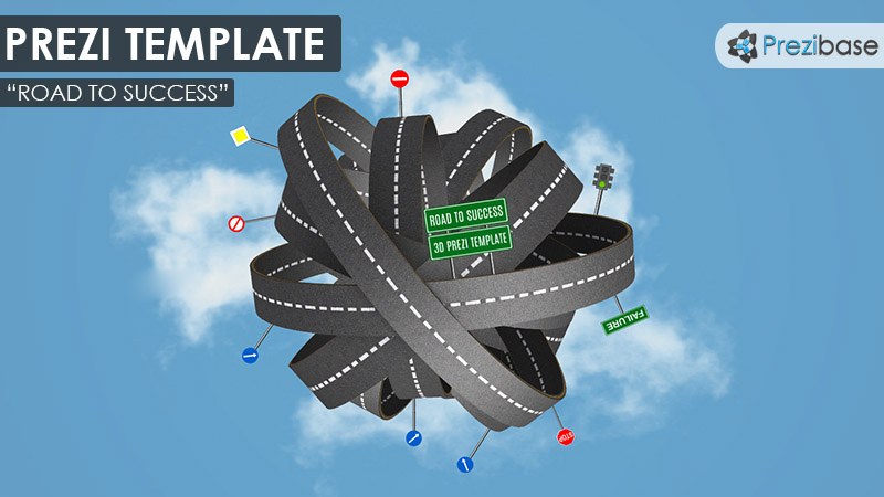 3D road to success prezi template