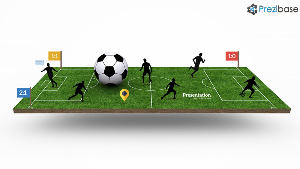 soccer football 3d presentation for rpezi