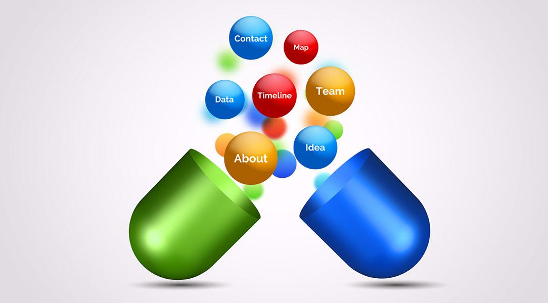 3D vitamin drug capsule prezi next presentation template