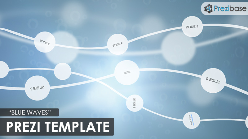 blue waves 3d background flow prezi template