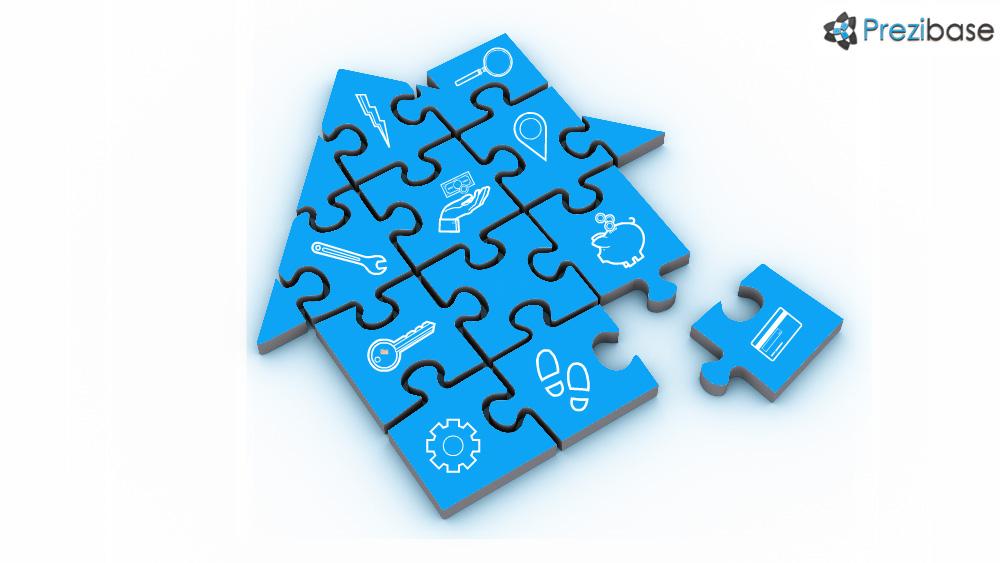 3d jigsaw puzzle house prezi template for presentations
