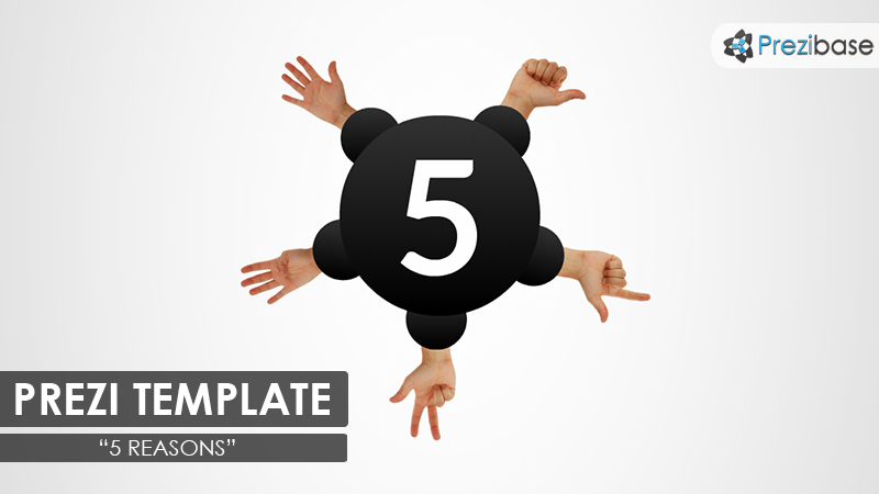 count with fingers 5 topic prezi template simple