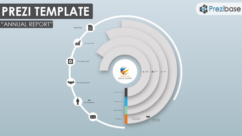 Annual report business prezi template