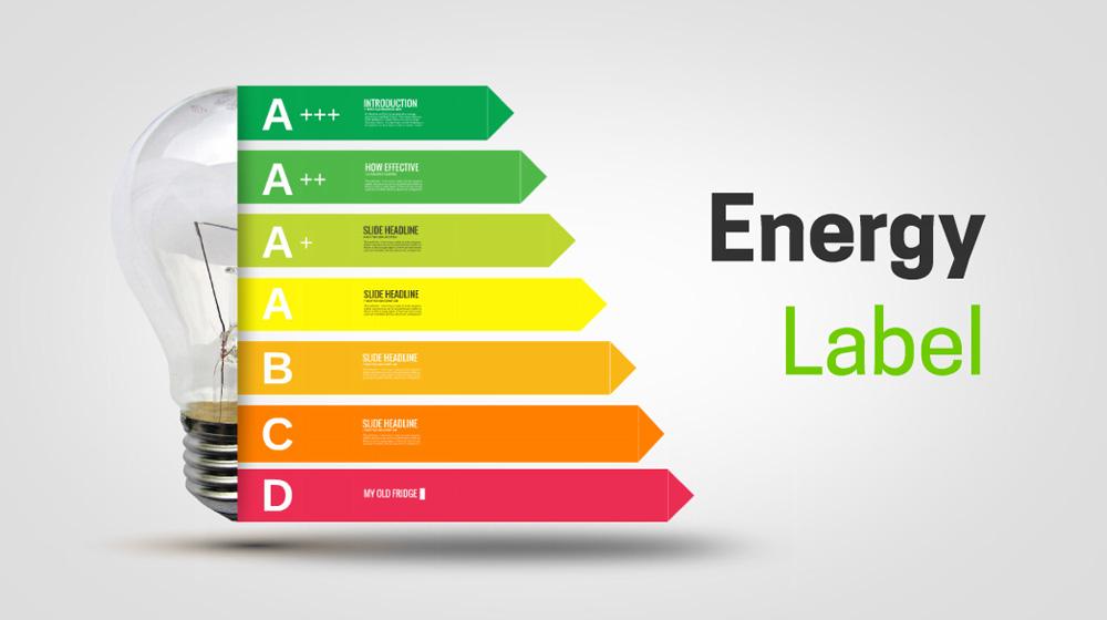 Energy class labels creative electricity light bulb diagram presentation template for prezi