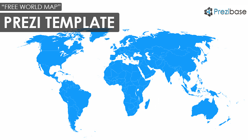 free world map prezi template countries