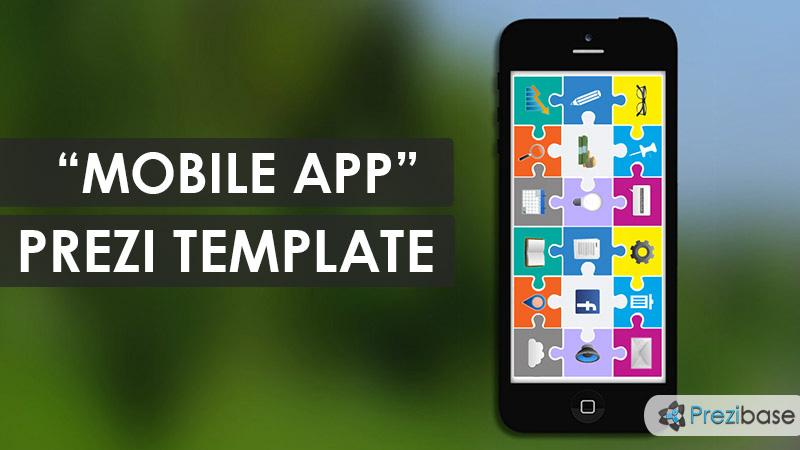 mobile app prezi template