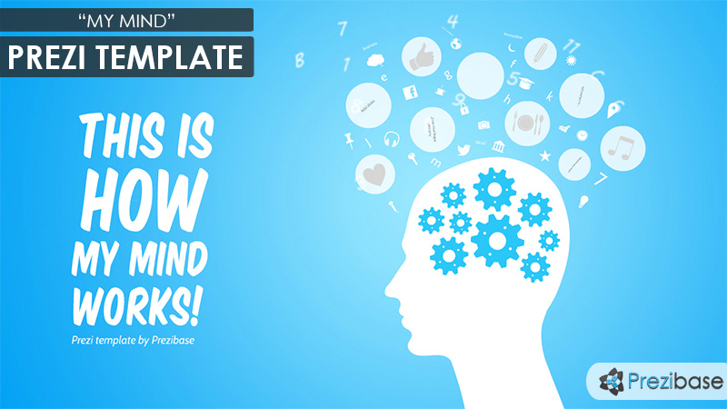 my mind head animated prezi template cogs moving inside head