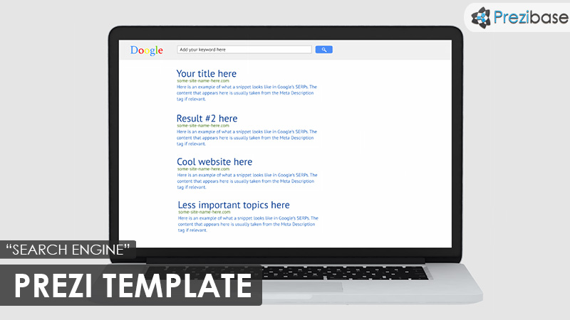 SEO marketing prezi template google
