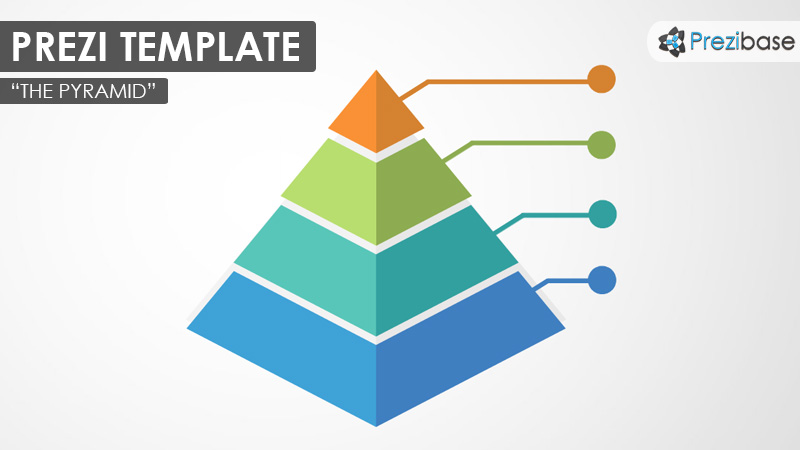 3d pyramid chart infographic prezi template