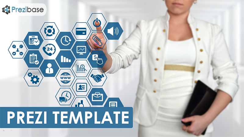 businesswoman prezi template