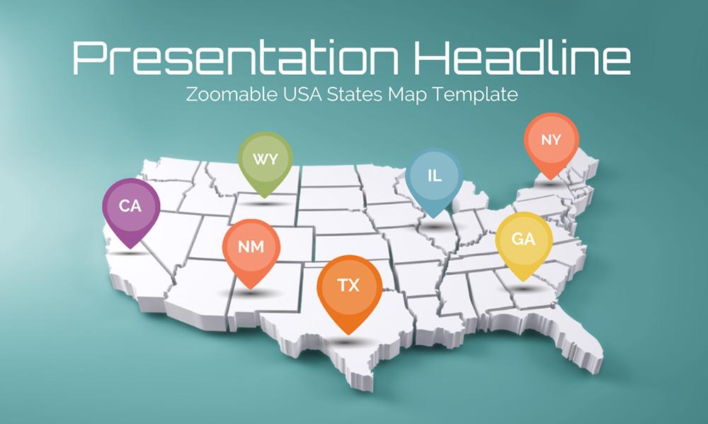 usa states map presentation prezi template prezibase