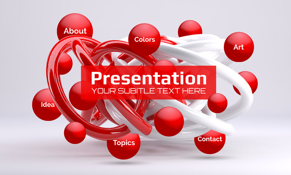 3D abstract lines presentation template for prezi