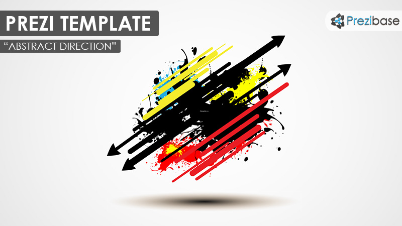 3d ink splatter abstract prezi template colorful