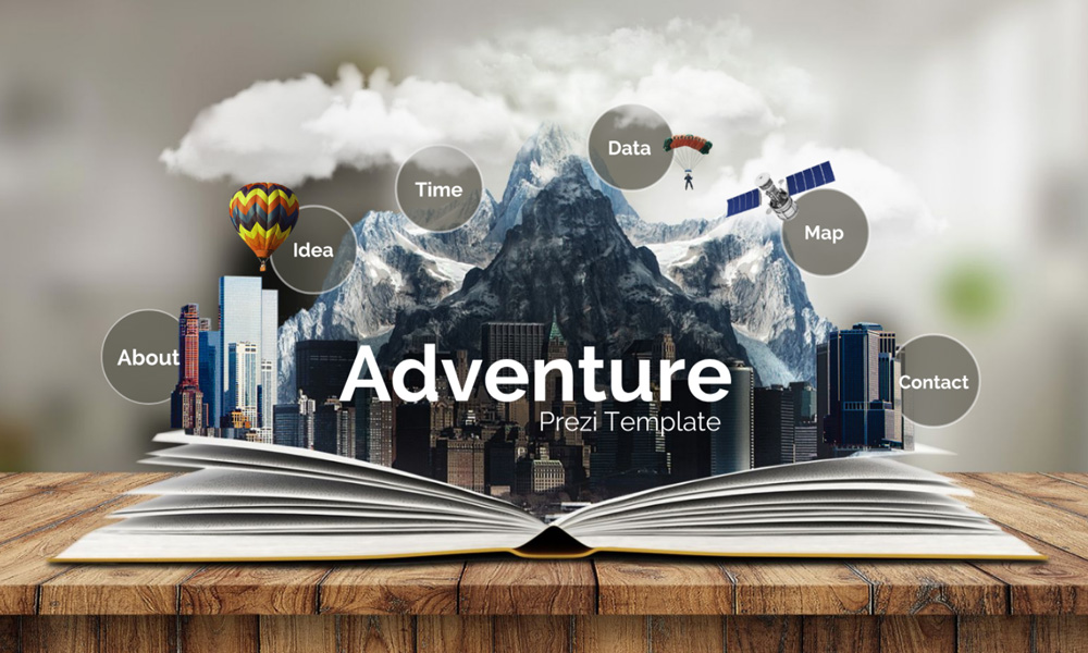 school story book prezi template