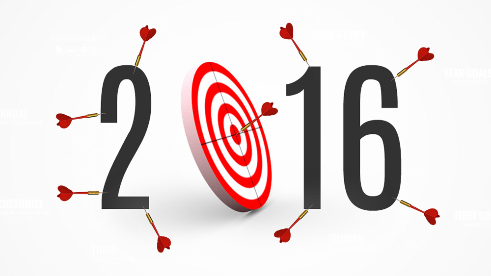 year goals and targets bullseye darts prezi presentation template