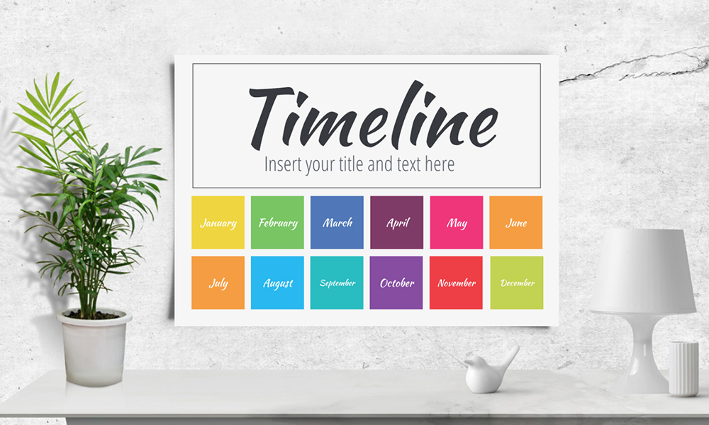 Annual year timeline calendar presentation template for prezi next