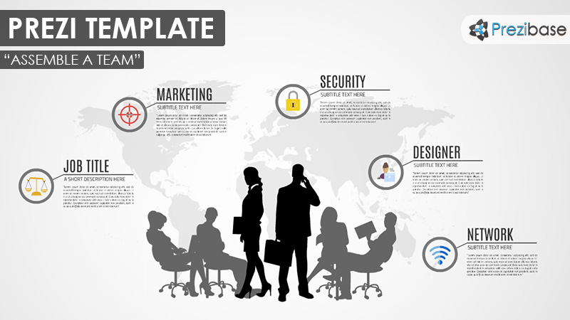 world business company team prezi template
