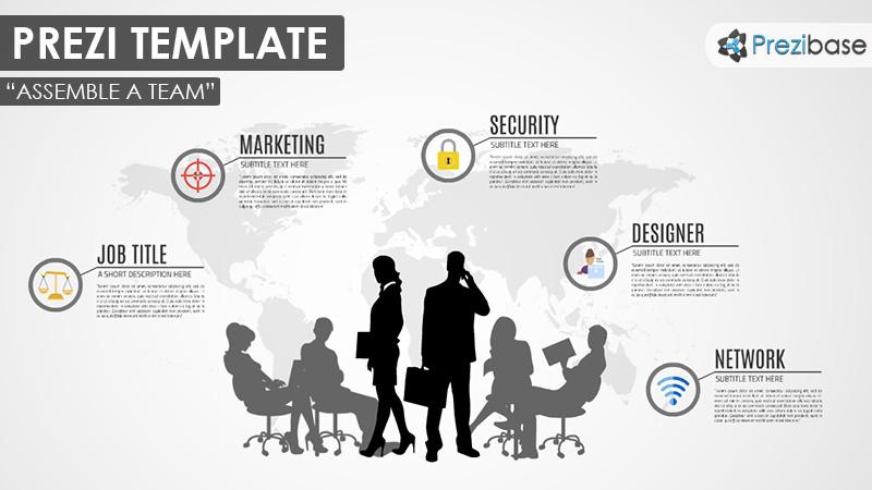Business prezi templates prezibase assemble business team company human resources prezi template accmission Image collections
