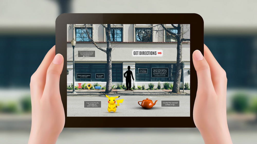 augmented reality in ipad prezi template for presentations