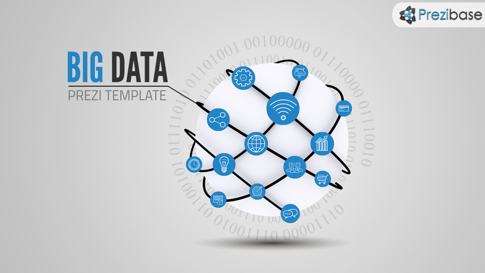 Big data technology sphere prezi template for presentations