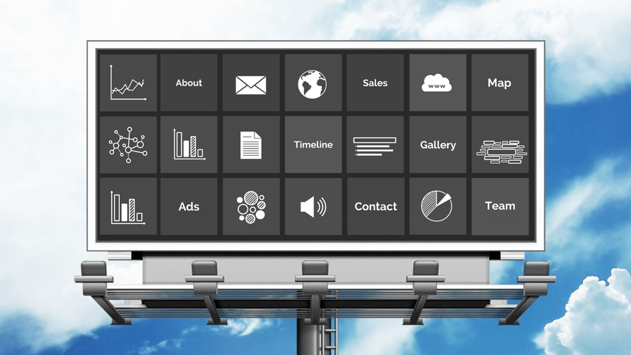 Advertising billboard and marketing prezi presentation template