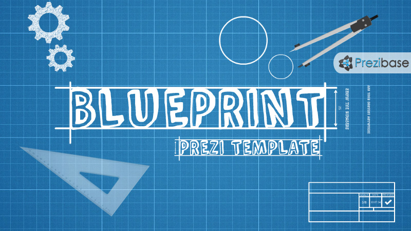 blueprint sketch drawing prezi template 3d background marketing