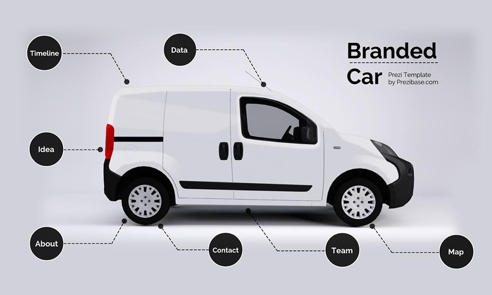 Car mockup transport prezi next presentation template