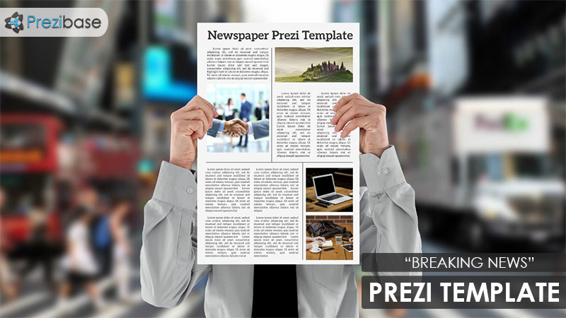 newspaper 3d magazine news prezi template