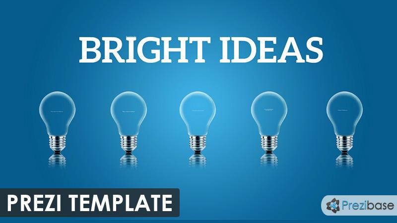 business ideas light bulb creative thinking prezi template