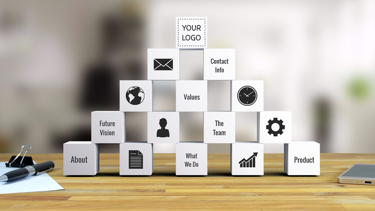 Building blocks Prezi Next template for business presentations