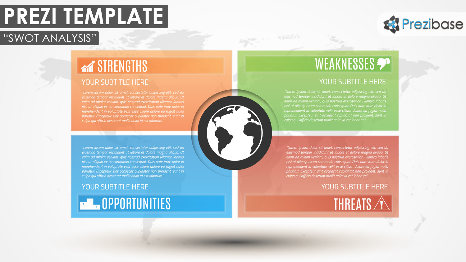 SWOT analysis company business prezi template