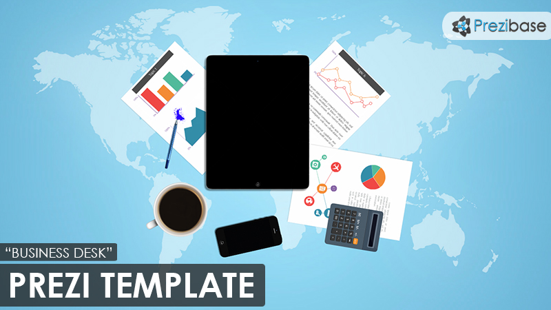 Business Desk Prezi Template  Prezibase