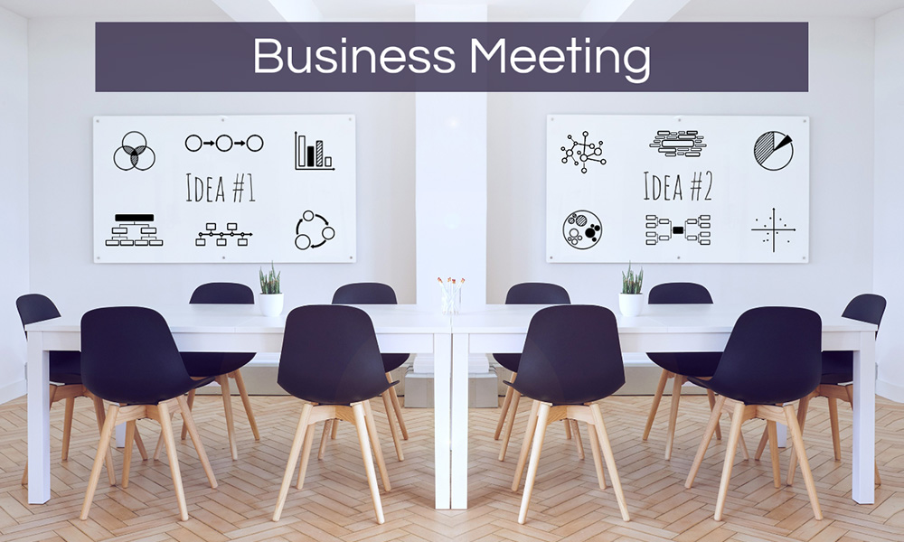 Business meeting company boardroom Prezi presentation template