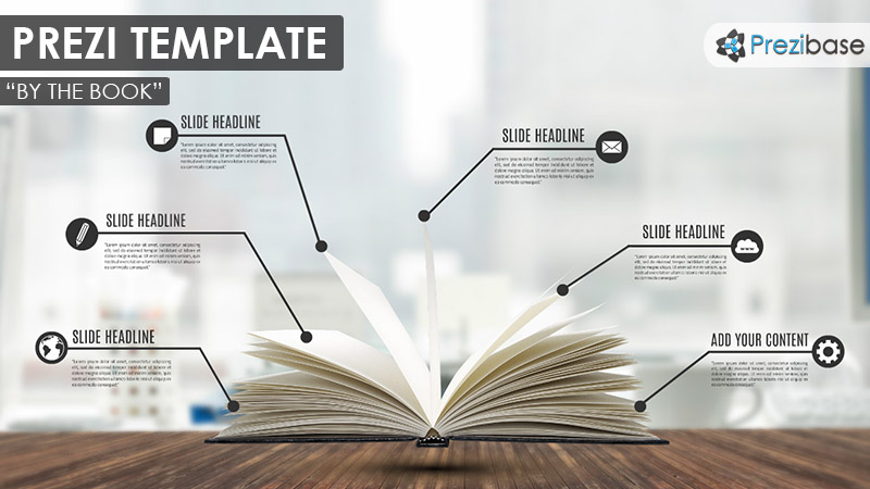3D school education book infographic prezi template