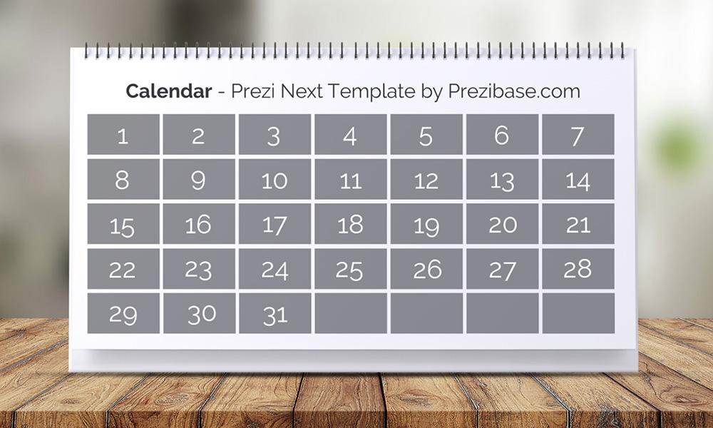interactive calendar presentation template timeline