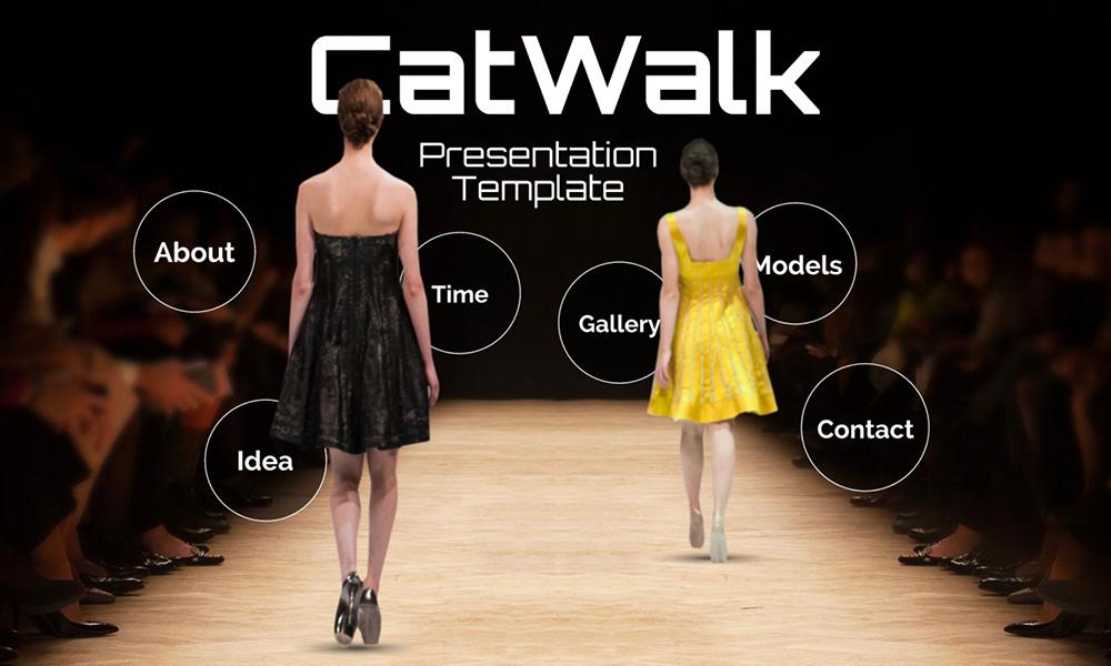Fashion and beauty catwalk runway prezi presentation template
