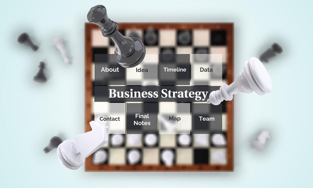 3D business strategy chessboard prezi next presentation template
