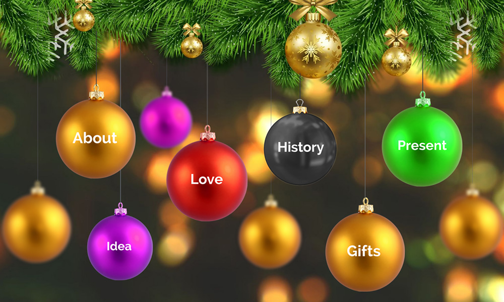 Christmas decoration ornament balls prezi next presentation template