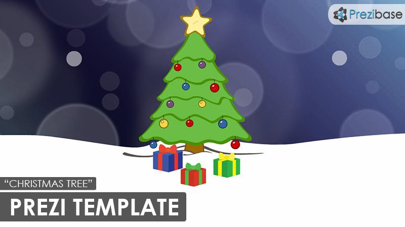 christmas tree animated xmas prezi template