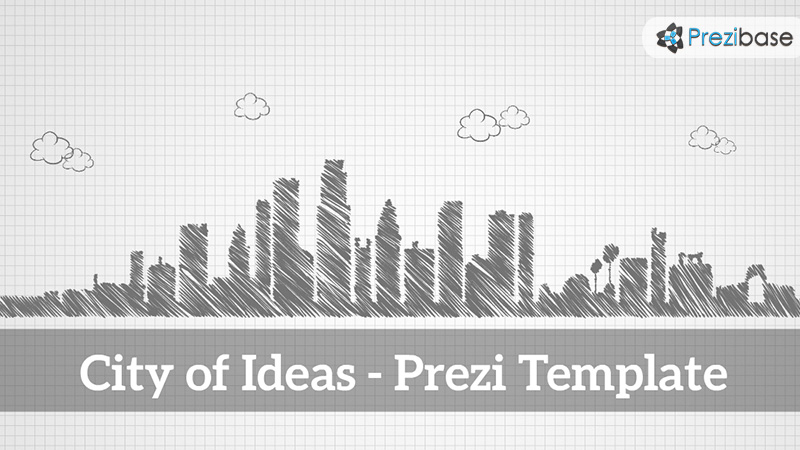 sketch city 3d city of ideas prezi template