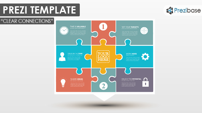 puzzle pieces diagram business professional prezi template