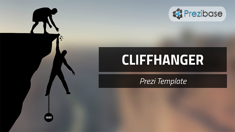 cliffhanger prezi template fall mountain