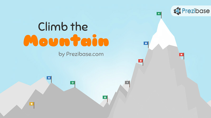 Climb the mountain prezi template prezibase climb the mountain hill prezi template for presentations toneelgroepblik