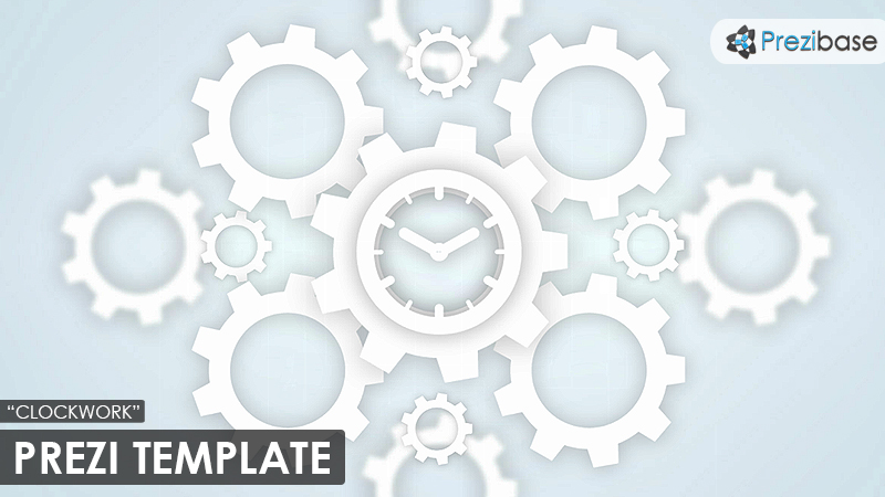 clockwork gears and cogs prezi template for business