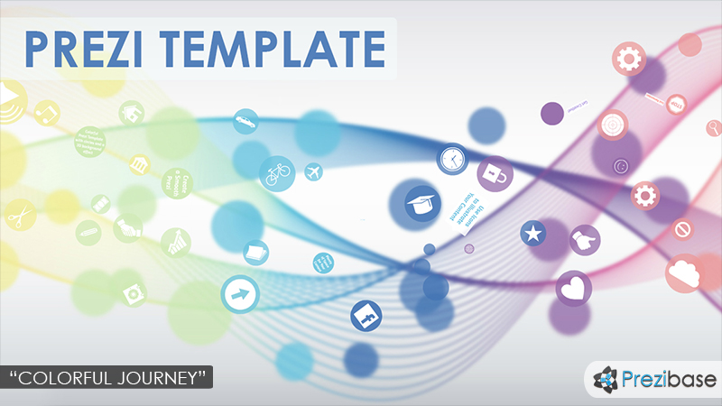abstract 3d flow waves simple waves prezi template