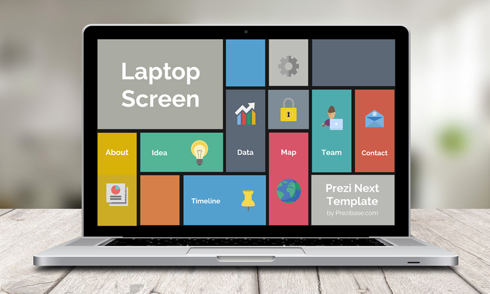 laptop screen prezi template