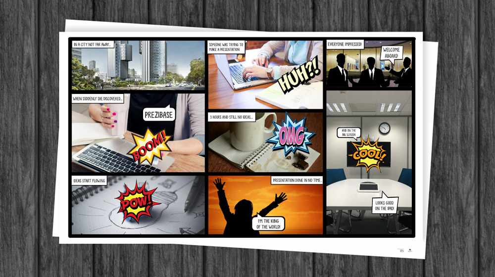 Comic book prezi template prezibase for Comic book template powerpoint