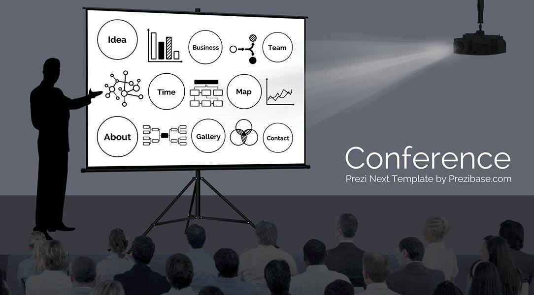 Public speaking conference Prezi next presentation template